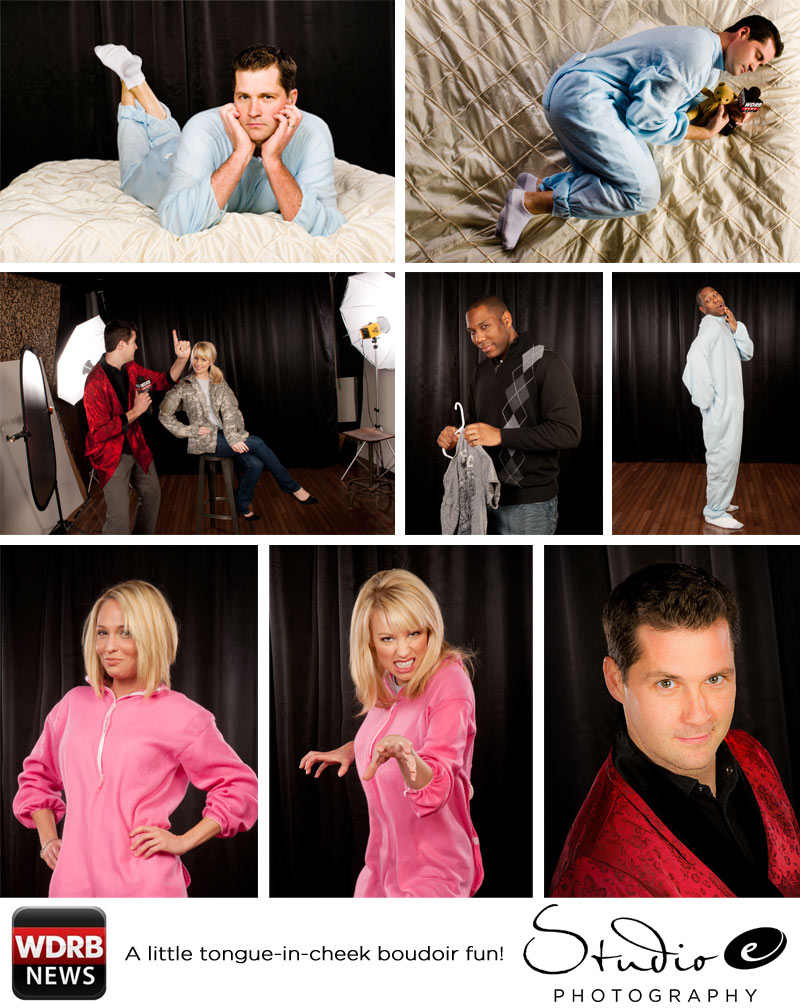 Some Fun Tongue-in-cheek Boudoir Photos with Keith Kaiser & WDRB in the Morning!